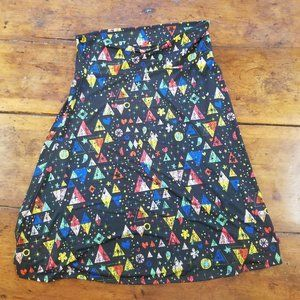 CUTE LuLaRoe Triangles A Line Skirt
